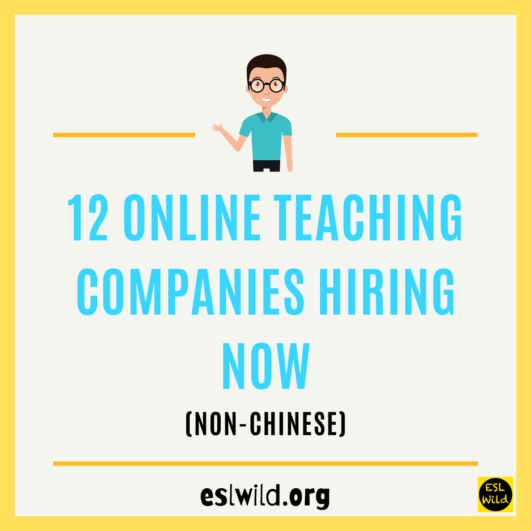12 Online Teaching Companies Hiring Now (Non-Chinese)