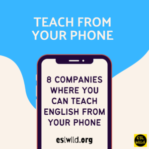 You Can Teach English From Your Phone
